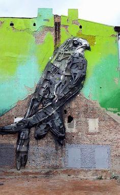 Great Bordalo's work in my city. Lodz, Poland