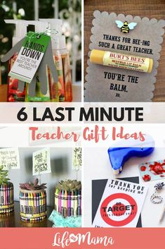 10 Last Minute Teacher Gift Ideas Teachers are amazing and deserve all the gratitude in the world, but sometimes special occasions or the end of the school year sneaks up on us, and we are empty handed. Here are 6 last minute teacher gift ide Daycare Teacher Gifts, Teachers Day Gifts, Presents For Teachers, Teacher Christmas Gifts, School Gifts, Thank You Teacher Gifts, Simple Teacher Gifts, Gift Ideas For Teachers, Coach Presents