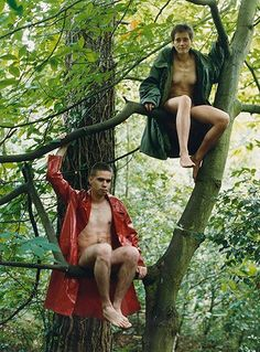 Lutz & Alex sitting in the trees. 1992 Photograph: Wolfgang Tillmans