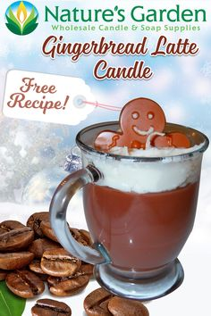 Free Gingerbread Latte Candle Recipe by Natures Garden.