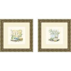 Pro Tour Memorabilia Bath Relaxation Spa Delight Framed Art (Set of 2) - 1-6874