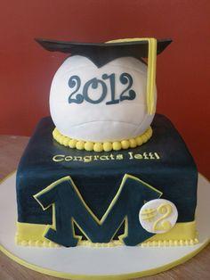 High School Graduation Cake Ideas | volleyball graduation — Graduation