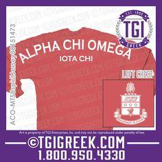TGI Greek - Alpha Chi Omega - Spirit Jerseys - Greek Shirt #tgigreek #alphachiomega