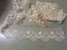 2.8 Yards WIDE Antique Fine Cluny Bobbin Lace Trim HANDMADE Wedding FRENCH | eBay