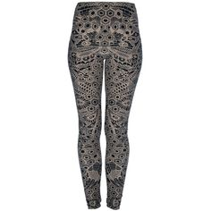 ALEXANDER MCQUEEN lace print legging ($58,430) ❤ liked on Polyvore