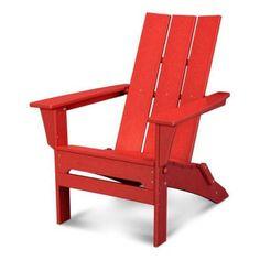 POLYWOOD® Modern Folding Adirondack Chair | Hayneedle