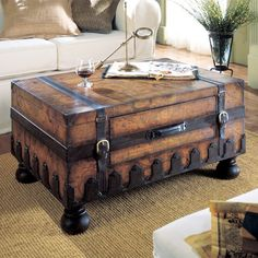 This classic Butler design offers a warmly weathered trunk silhouette that opens to store linens, throws, clothing, and more. #jossandmain