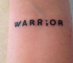 Semicolon tattoos meaning: the message is important.