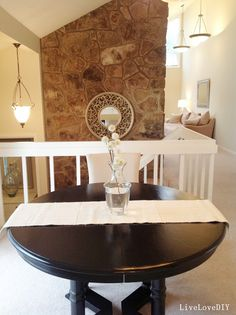 Painting a dining table black