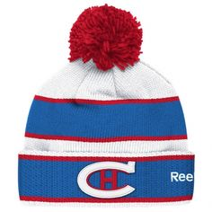 Montreal Canadiens Reebok Winter Classic Players Cuffed Knit Hat with Pom - White/Blue Nhl Jerseys, Hockey Teams, Sports Teams, Montreal Canadiens, Nhl Winter Classic, Sports Shops, Ebay Sports, Hats For Men