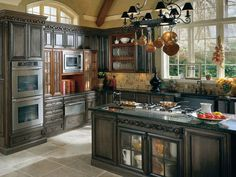French Country Kitchen Kitchen Islands French Country Overhead Storage Pichomez