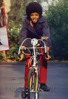 MICHAEL JACKSON Riding Bike