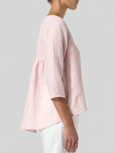 Fashion Moda, Diy Fashion, Ideias Fashion, Fashion Ideas, Tunic Blouse, Shirt Blouses, Tunic Tops, Loose Tops, Mode Outfits