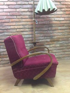 ONE PIECE ART DECO ARMCHAIR VINTAGE 1950's By J.Halabala in Antiques, Antique Furniture, Chairs | eBay