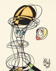 Drawing by Kurt Vonnegut