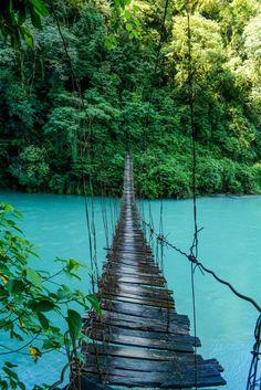 Crossing Río Ixcan in Guatemala