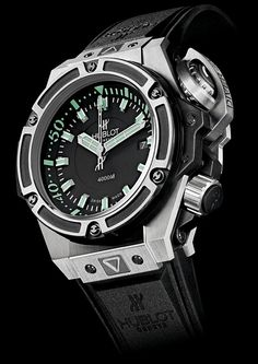 Diamond Watches Collection : Hublot Oceanographic 4000 watch - Watches Topia - Watches: Best Lists, Trends & the Latest Styles Amazing Watches, Beautiful Watches, Cool Watches, Watches For Men, Casual Watches, Wrist Watches, Gents Watches, Fine Watches, Sport Watches