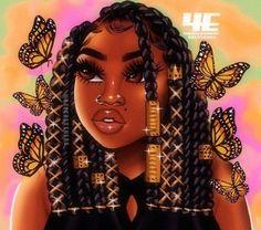 Black Love Art, Pretty Black Girls, Black Girl Art, My Black Is Beautiful, Black Girls Pictures, Drawings Of Black Girls, Black Art Painting, Black Artwork, Black Girl Cartoon