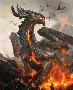 Cinema Gorgeous  Dragons, by artist Tibor Bedats.