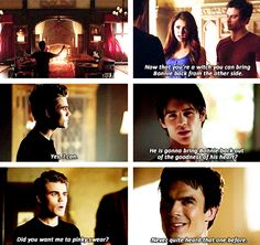 Smart ass Silas lol Can't wait for the new episode tonight! | Vampire Diaries