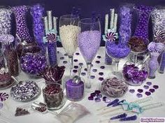 Purple candy buffet!