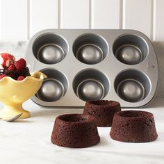 Wilton Brownie Cup Pan from Sur la Table... Perfect for a scoop of ice cream