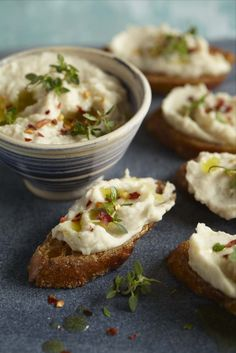 bean spread bruschetta