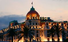 Hôtel Negresco in Nice has a pink dome that rises up over the Baie des Anges. The century-old hotel has been an iconic presence in Nice for a long time, but it's also charmed guests with opulent interiors and its proximity to the Musee Matisse and Musee National Marc Chagall.