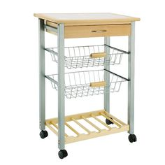 Neu Home Basket and Wine Rack Kitchen Cart, Multicolor Rolling Kitchen Island, Kitchen Island Cart, Kitchen Trolley, Furniture Handles, Cheap Furniture, Kitchen Furniture, Furniture Websites, Furniture Market, Wine Rack Storage