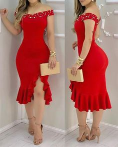 Slit Dress, Ruched Dress, Bodycon Dress, Chic Type, Trend Fashion, Women's Fashion, Dark Fashion, Fashion Styles, Party Dresses Online