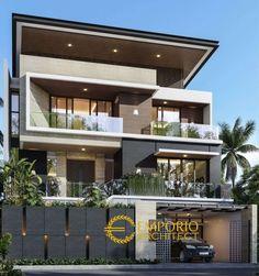 3 Storey House Design, Bungalow House Design, House Front Design, Best Modern House Design, Modern Exterior House Designs, Exterior Design, Modern Design, Modern Contemporary House, Floor Design