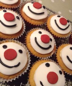 Yummy Red Nose Day cakes! Red Nose Day Cupcakes, Clown Cake, Simply Red, Cooking With Kids, Bake Sale, Tray Bakes, No Bake Cake, Sweet Treats, Crafts For Kids
