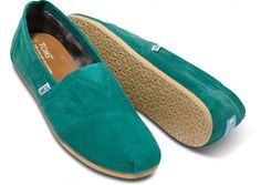 Corduroy is a Fall fabric must for any guy - cozy, casual and comfortable. The rich color of Green Cord Classics is proof that cool-weather layers don't have to be drab. By Toms.
