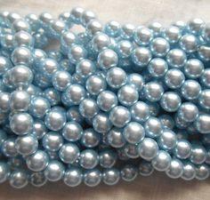 100 Metallic Pink Suede Czech Glass Tear Drop Teardrops Beads 6MM
