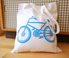 New Retro Bike Shopper Bag by Jane Foster