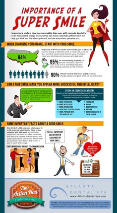 Awesome new infographic on the Benefits of a GREAT Smile.    http://atlantadentalspa.com/benefits-of-a-new-smile.html    Atlanta Dental Spa  3189 Maple Drive NE  Atlanta, GA 30305