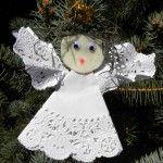 Handmade Christmas ornament craft