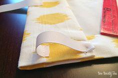 "Interesting method for making ""rod pocket"" More measuring, more kinds of materials, but shorter seams"