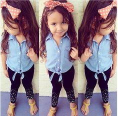 Love this look Fashion Kids, Little Kid Fashion, Little Girl Outfits, Cute Girl Outfits, Cute Outfits For Kids, Cute Little Girls, My Little Girl, Baby Girl Fashion, Toddler Fashion