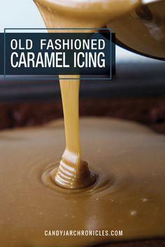Caramel Cake Icing, Carmel Icing, Chocolate Cake Mixes, Caramel Cakes, Chocolate Frosting, Icing Recipe For Cake, Frosting Recipes, Old Fashioned Caramel Icing Recipe, Cooked Caramel Icing Recipe