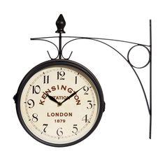KENSINGTON metal wall clock in black ...