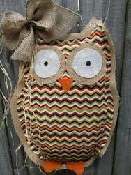 Easy stuffed burlap owl