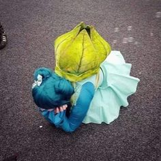 The most accurate Bulbasaur cosplay I've ever seen.