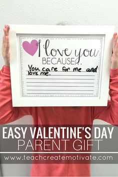 Teach Create Motivate : Quick & Easy Parent Valentine's Day Gift!