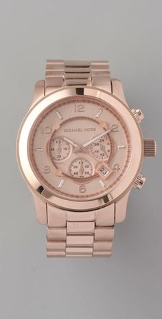 #MichaelKors Oversized Rose Gold Watch. Question: Is rose gold the new white gold? Hmm....