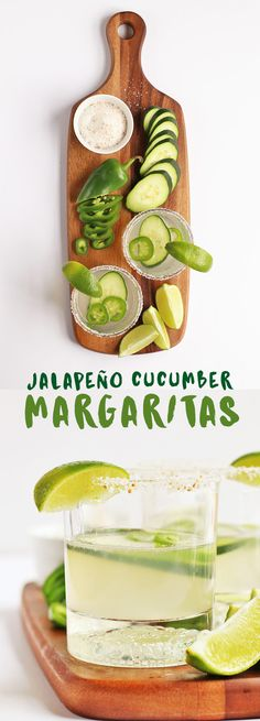This Jalapeño Cucumber Margarita is the perfect combination of refreshing and spicy for your favorite summertime drink. This Jalapeño Cucumber Margarita is the perfect combination of refreshing and spicy for your favorite summertime drink. Easy Drink Recipes, Alcohol Recipes, Delicious Vegan Recipes, Yummy Drinks, Raw Food Recipes, Spicy Drinks, Alcoholic Beverages, Fun Drinks, Tasty