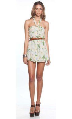 Lillies Halter Mini Dress
