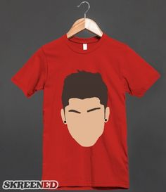 """""""zayn head"""" T-Shirt Design from my Random ☺ Store! click to buy! (t-shirt requests can be made here, or at nickziall.tumblr.com/ask) #Random #ZaynMalik #OneDirection"""