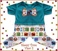 Dog Clothes Pattern Pajamas Unisex Design by MissDaisyDesignsShop, $7.99