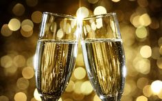 Download wallpapers champagne, 4k, New Year, glasses with champagne